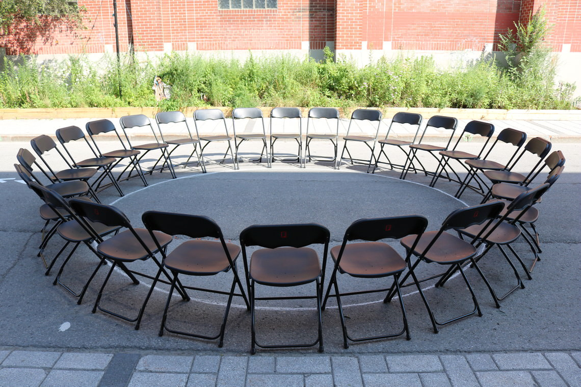 - untitled (chairs in a circle)