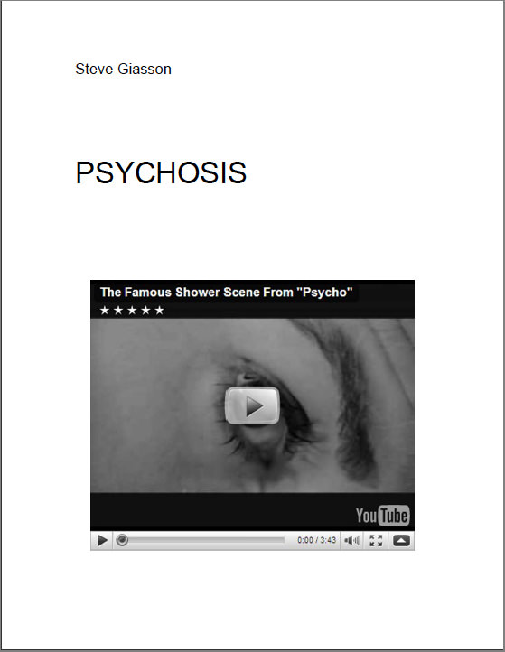 - PSYCHOSIS
