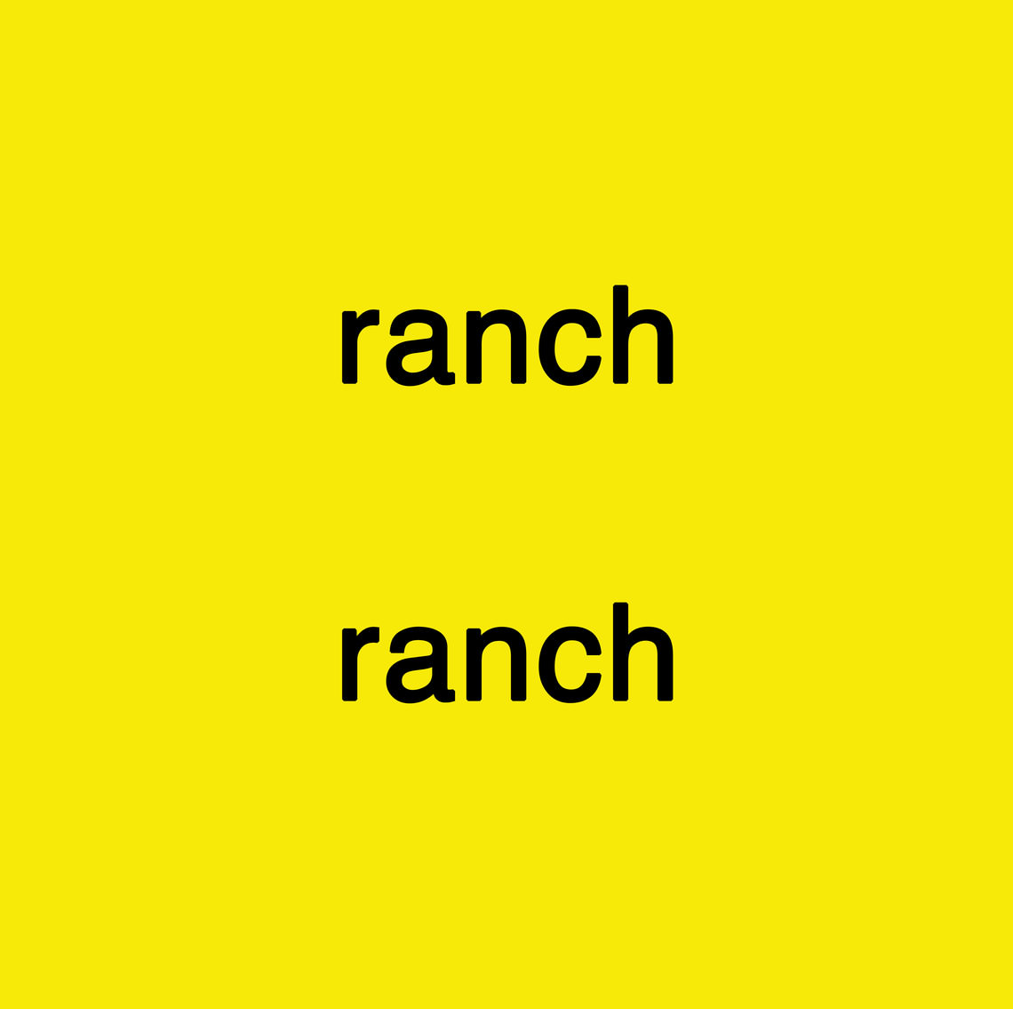 - ranch ranch
