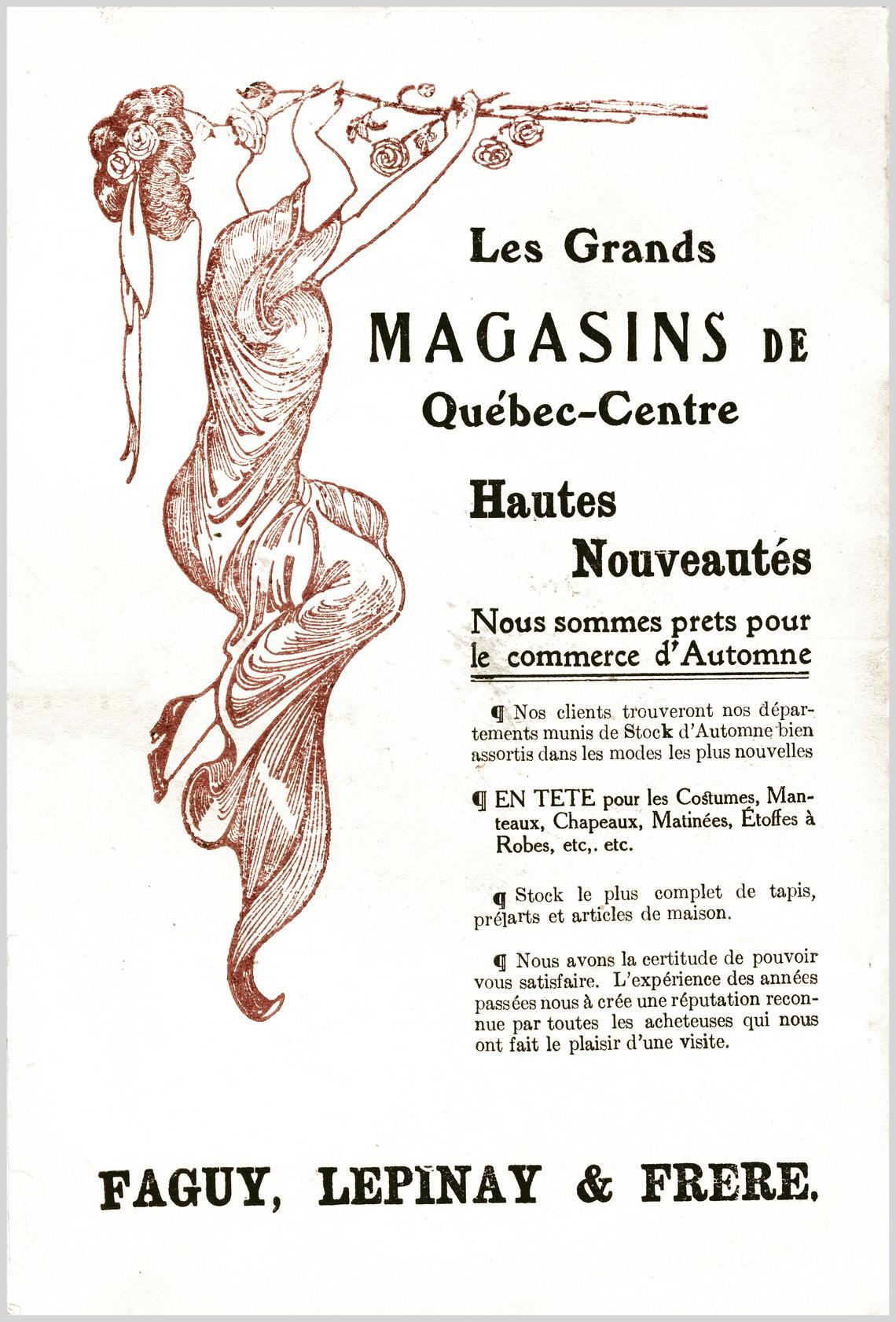 - Publicité No. 1 (Faguy, Lepinay & Frère)