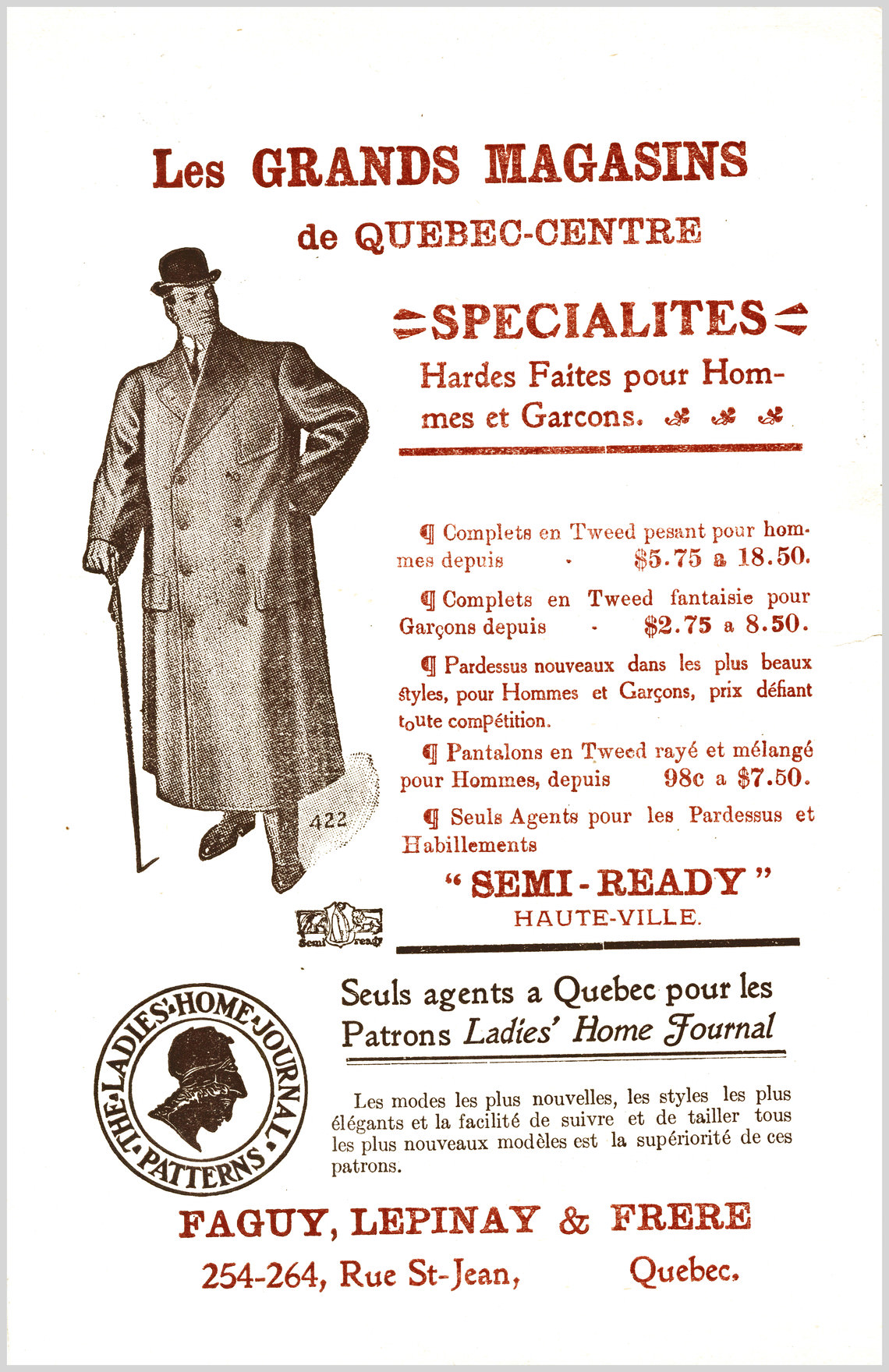 - Publicité No. 2 (Faguy, Lepinay & Frère)