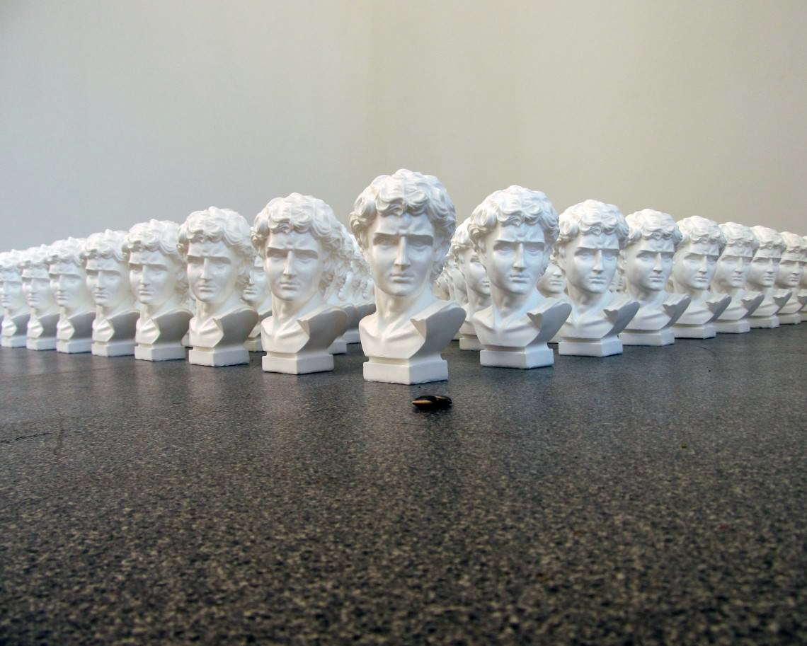 - Ai Weiwei, Sunflower Seeds + Eighty One Roman Busts (Made In China)
